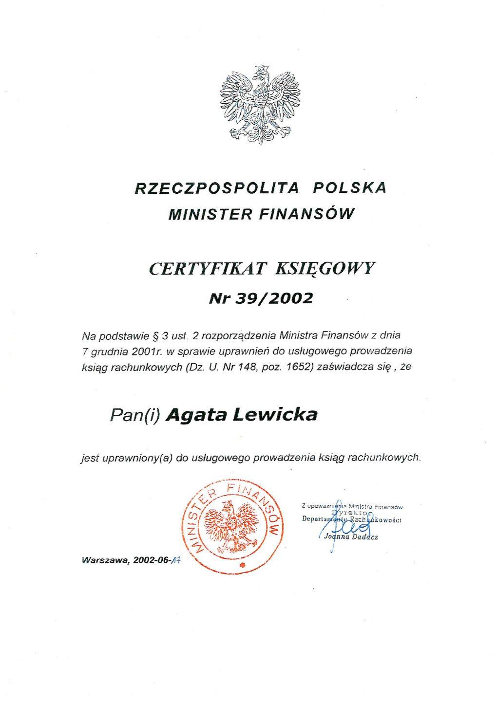 Agata_ Lewicka_certyfikat